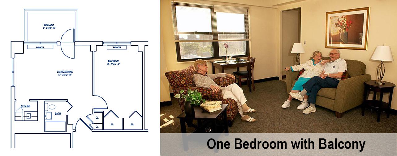 ONE BEDROOM + BALCONY